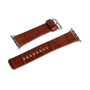 Hadoro Alligator Bracelet Steal Brown